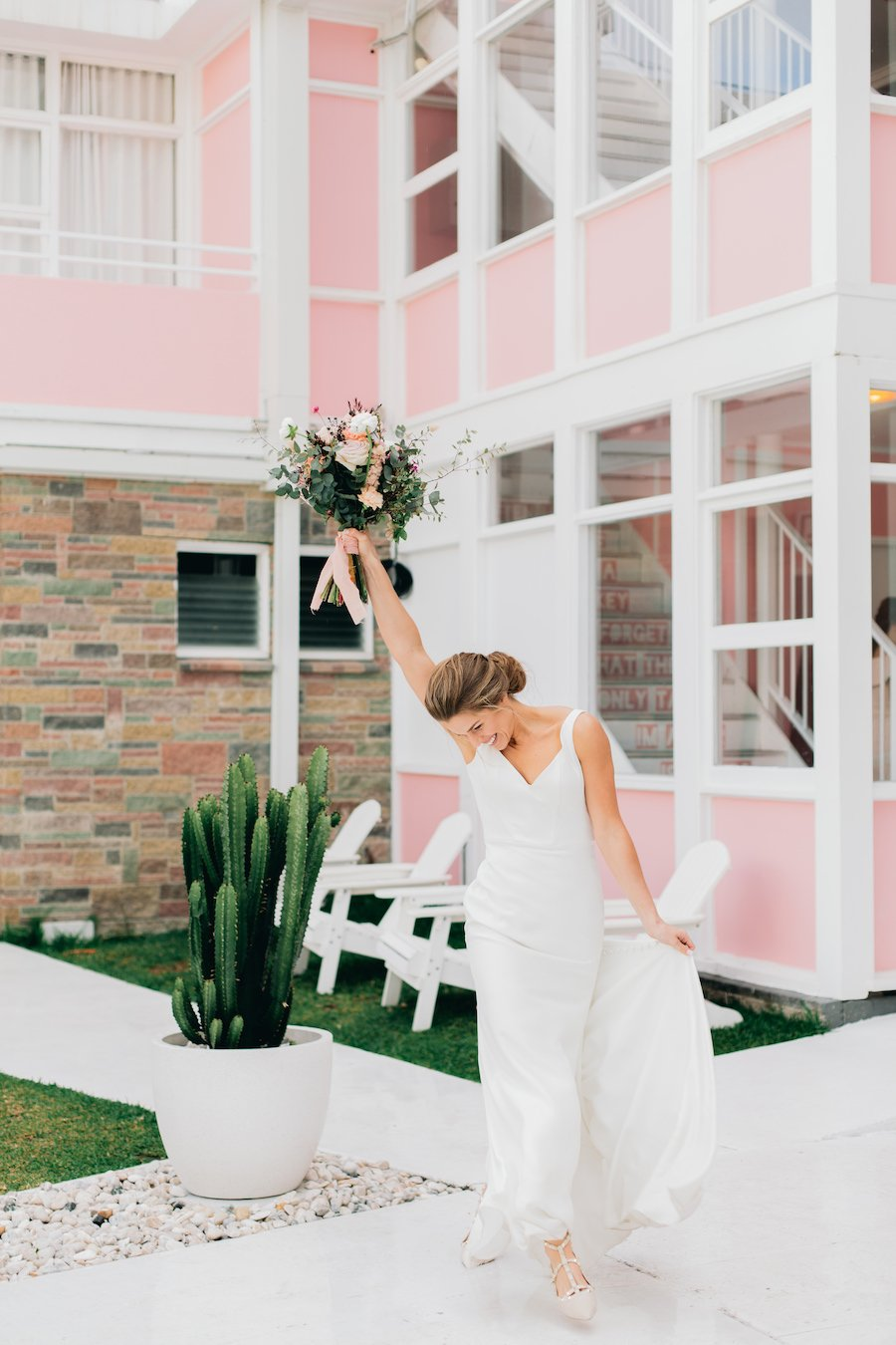 Bride dancing at The Pink Hotel Coolangatta accommodation