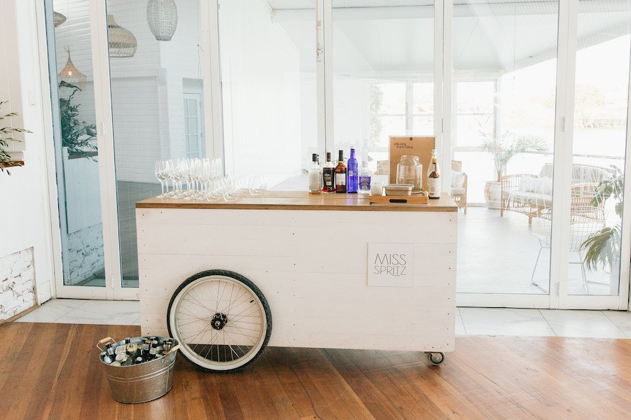 miss spritz drinks cart