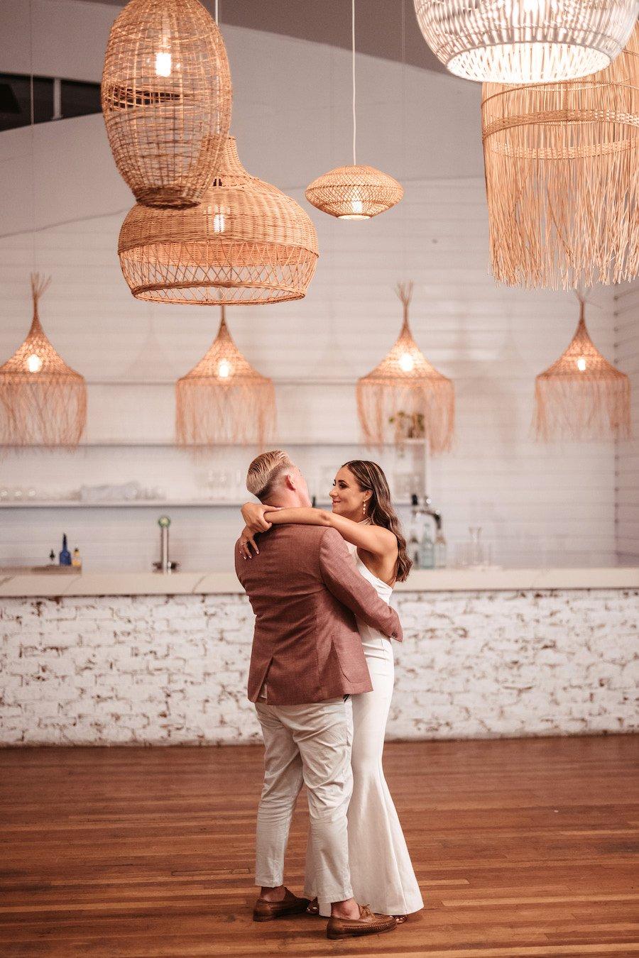 Mediterranean inspired interior for wedding reception venue