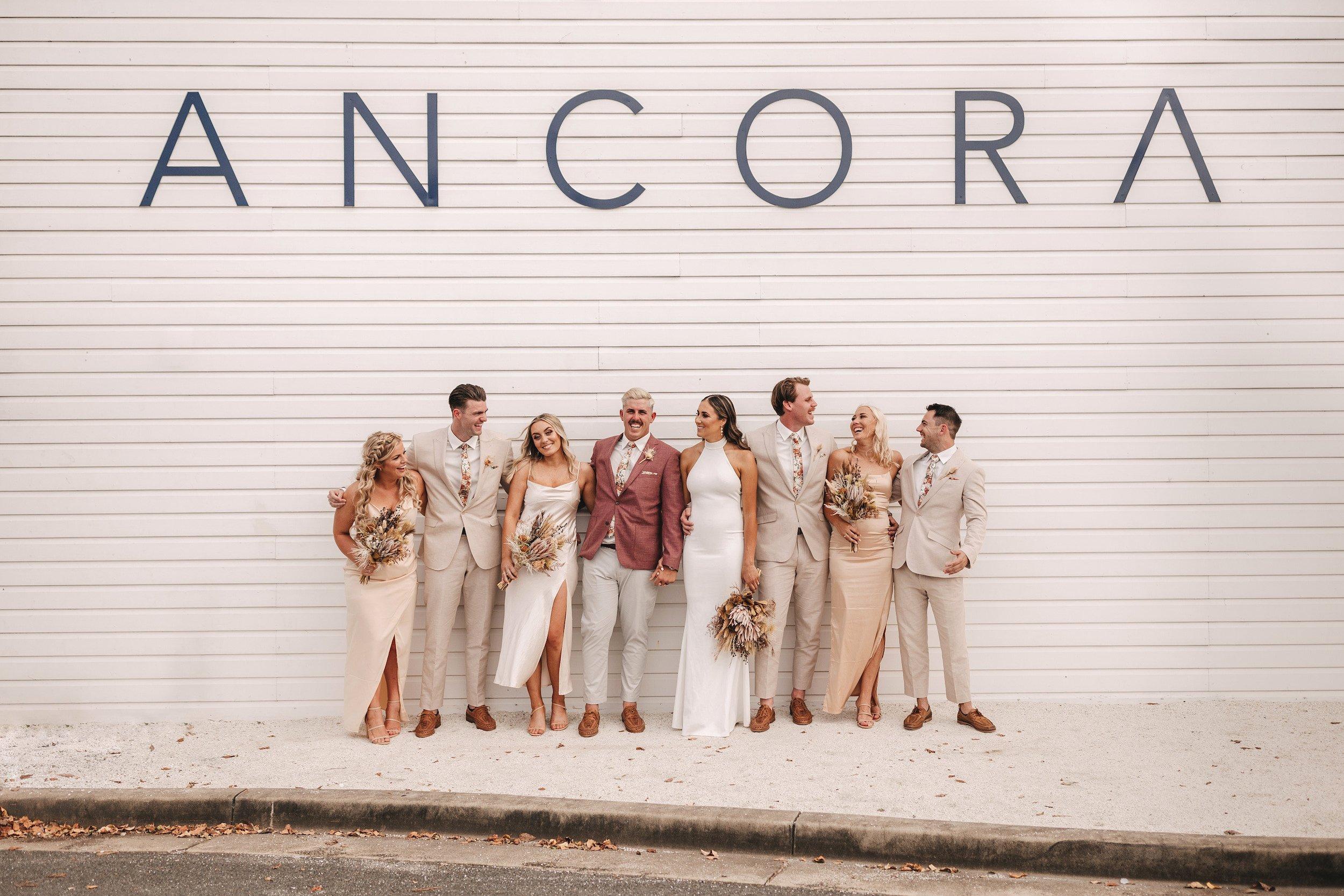 Ancora weddings bridal party destionation wedding