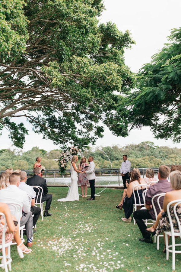 garden waterside ceremony