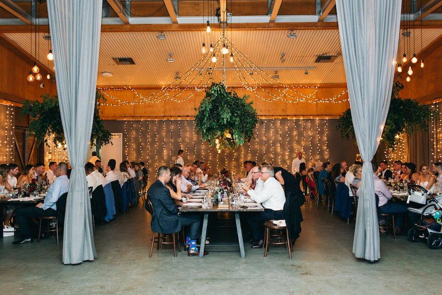 wedding reception venue with guests