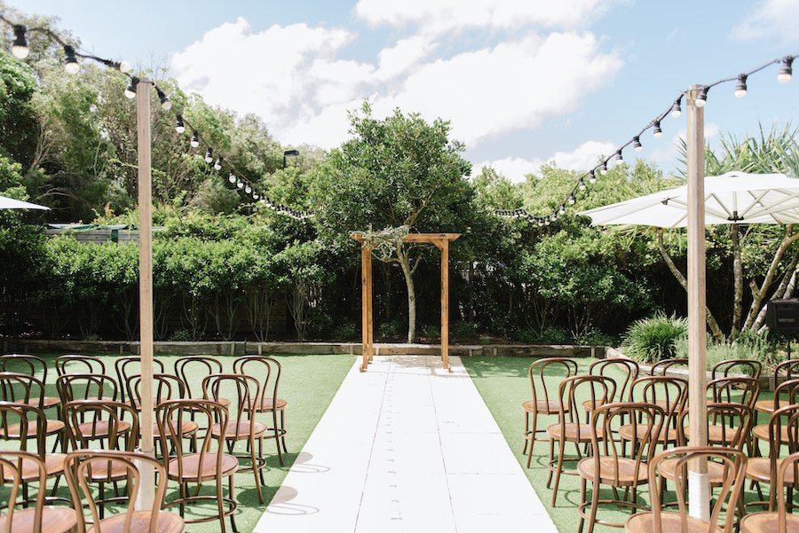 garden private ceremony sey up