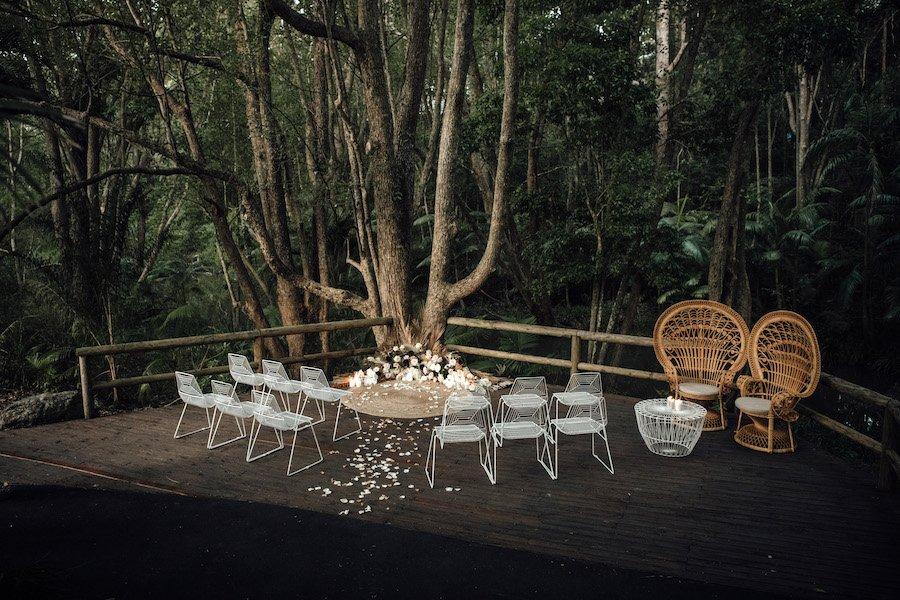 wedding ceremony deck