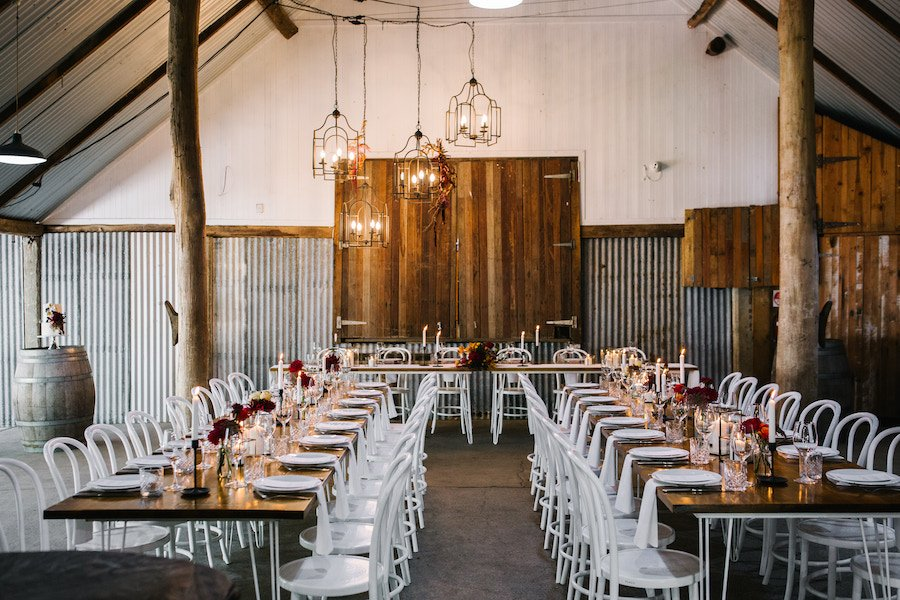 gold coast wedding barn reception styling