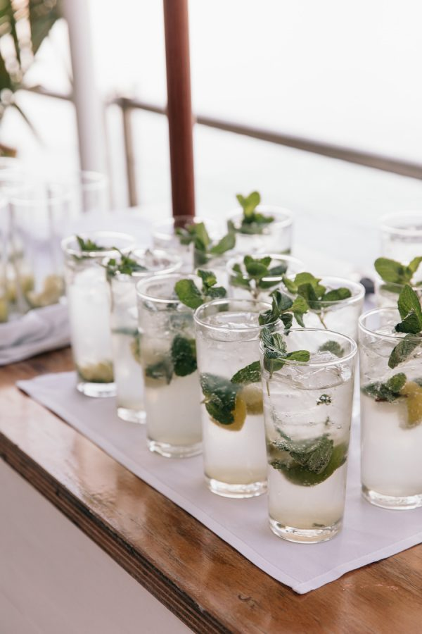 mojitos on the miss spritz drinks cart