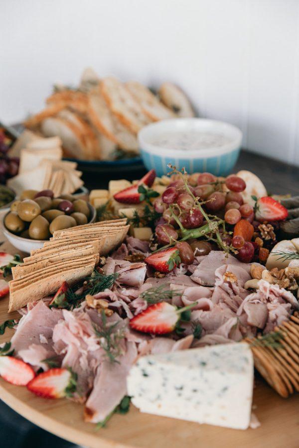 A grazing platter on the ancora wedding menu