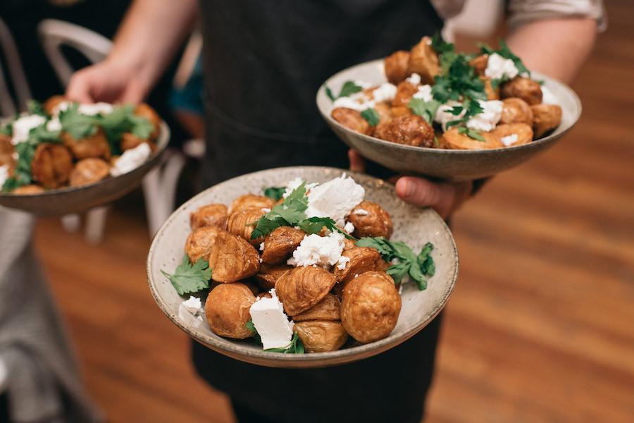 wedding menu food at Ancora